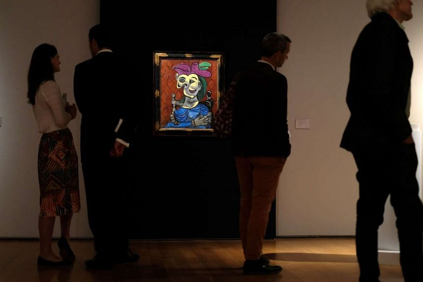 The portrait inspired by Picasso's lover and muse Dora Maar was auctioned at Christie's on Monday.