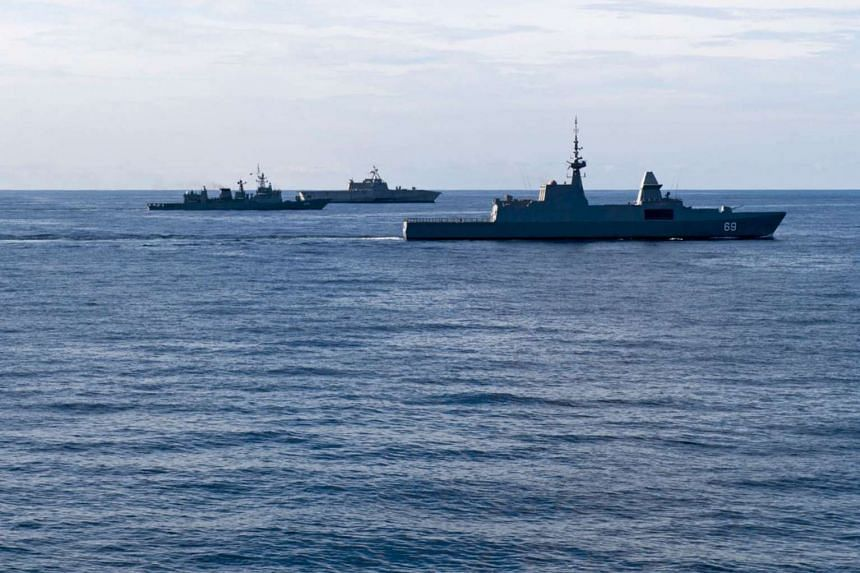 The navies of Singapore, Thailand and the United States took part in the two-day exercise, which focused on conventional maritime warfare capabilities such as anti-air and anti-surface operations that began on May 10, 2017.