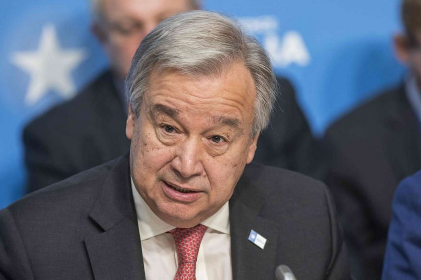 UN Secretary-General Antonio Guterres condemned North Korea over its launch of a ballistic missile.