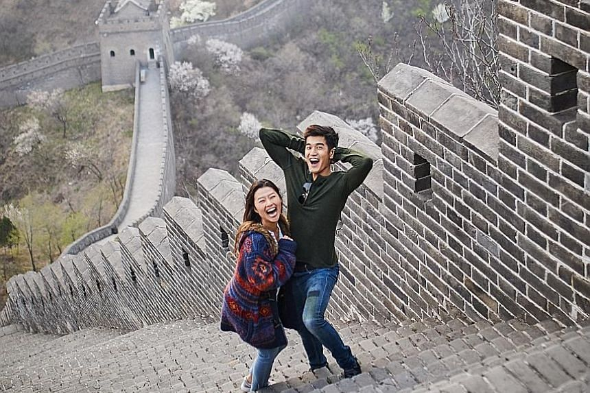 Nathan Hartono and Dutch-Korean actress Na-Young Jeon (both left) star in the upcoming musical, The Great Wall: One Woman's Journey, by Glowtape Productions.
