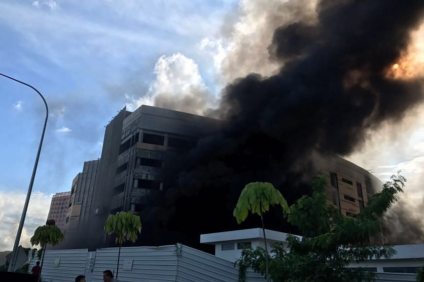 A fire broke out at a school under construction in Punggol on Tuesday, May 16 2017.