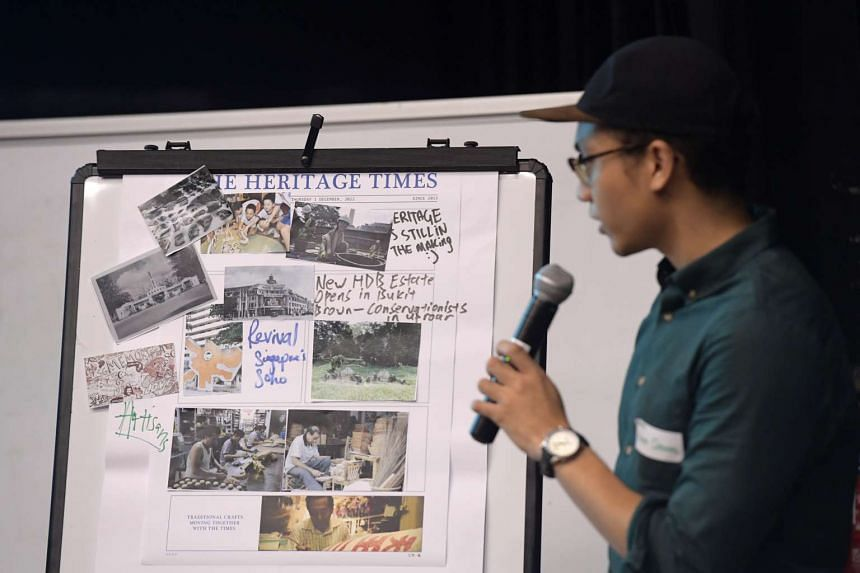 NUS student Hadith Redzuan, 23, at the first engagement session for the Heritage Plan held at the Malay Heritage Centre on May 17, 2017.