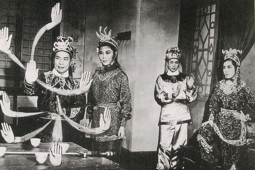 A still of Buddha's Palm, with (from left) Cho Tat Wah, Yu So Chow, Kwan Hoi San and Patricia Lam Fung.