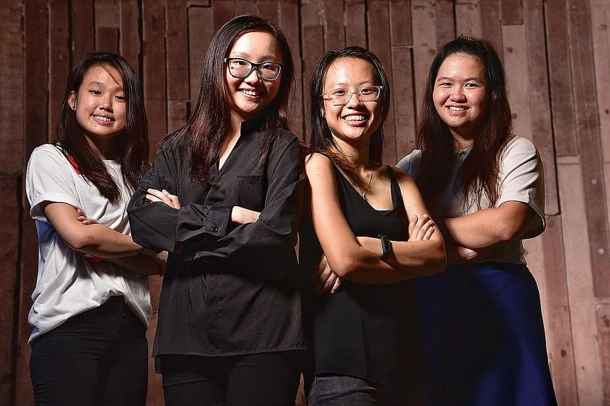 (From left) Ms Adelyn Lim, Ms Tricia Chua, Ms Tricia Koh and Ms Tan Li Ying have experienced mental health issues such as anxiety, depression and personality disorders. They hope to raise about $8,000 for SAMH.