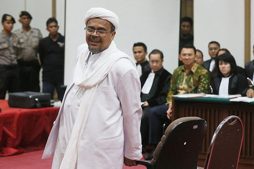 Mr Rizieq Shihab is wanted for questioning related to a pornography case but has twice ignored police summons.