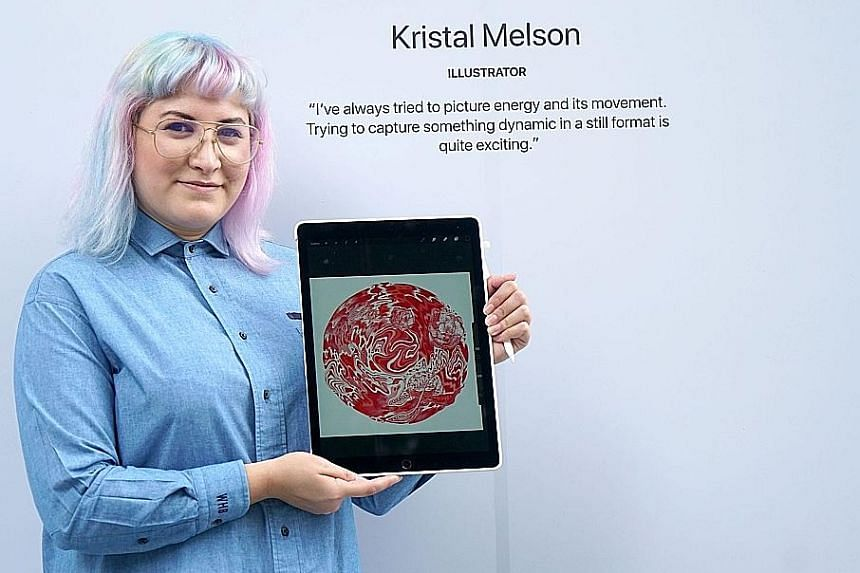 In her first internship, Miss Kristal Melson was put in projects using illustrations after her boss discovered that she could draw.