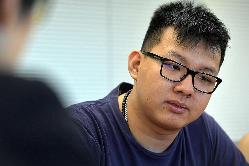"""Left: Mr Dave Yuen speaking to the media yesterday for the first time since his wife Goh Chieh Ting's death last Saturday. He says he has been visiting his daughter Yu En in the hospital every day, adding: """"I still need time to breathe... I don't kno"""