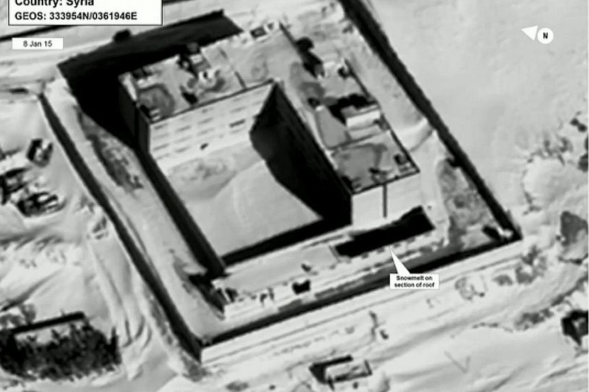 Satellite view of part of the Sednaya prison complex. The US says Syria is destroying evidence that could be used to prosecute war crimes.