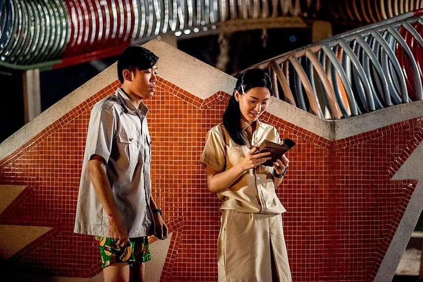 In Lucky Boy, Wang Weiliang plays a boy who has been pining for his childhood crush, played by Venus Wong (both left), his entire life.