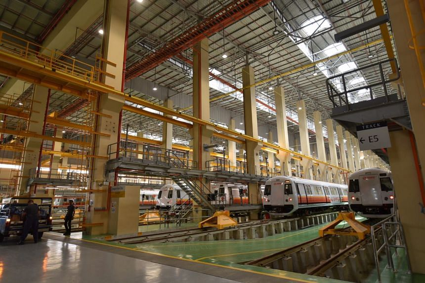 The new train depot in Tuas West is the largest train depot in Singapore.