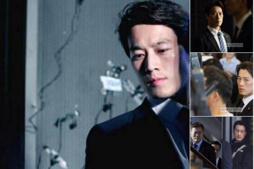 Netizens have been aflutter over a bodyguard of South Korean President Moon Jae In, likening Choi Young Jae to Kevin Costner's character in the Hollywood movie The Bodyguard.