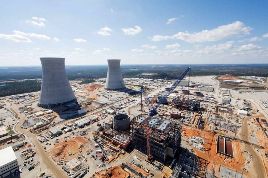 The Vogtle Unit 3 and 4 site, being constructed by primary contactor Westinghouse, a business unit of Toshiba, near Waynesboro, Georgia, US on February 2017.