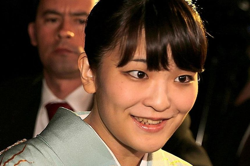 Princess Mako is expected to marry Mr Kei Komuro next year. She must become a commoner after marriage, as stipulated by the Imperial House Law, causing the royal family to shrink.