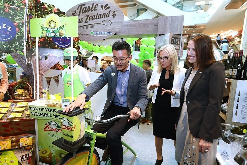 One would not have to travel too far for a taste of New Zealand this week, but some cycling might be required for a fresh cup of kiwi fruit juice. A bounty of treats from over 20 New Zealand brands is available for purchase at the Cold Storage Taste
