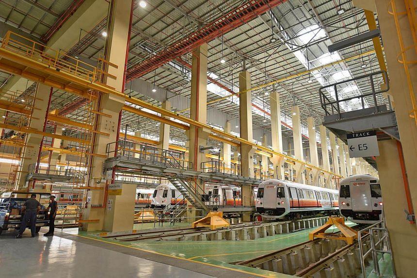 Tuas depot, Singapore's newest train depot at 50A Tuas Link 4.