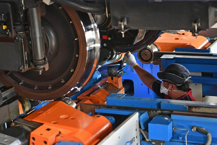 One of the features of the new Tuas depot is an underfloor tandem wheel lathe that is used to re-profile worn train wheels.