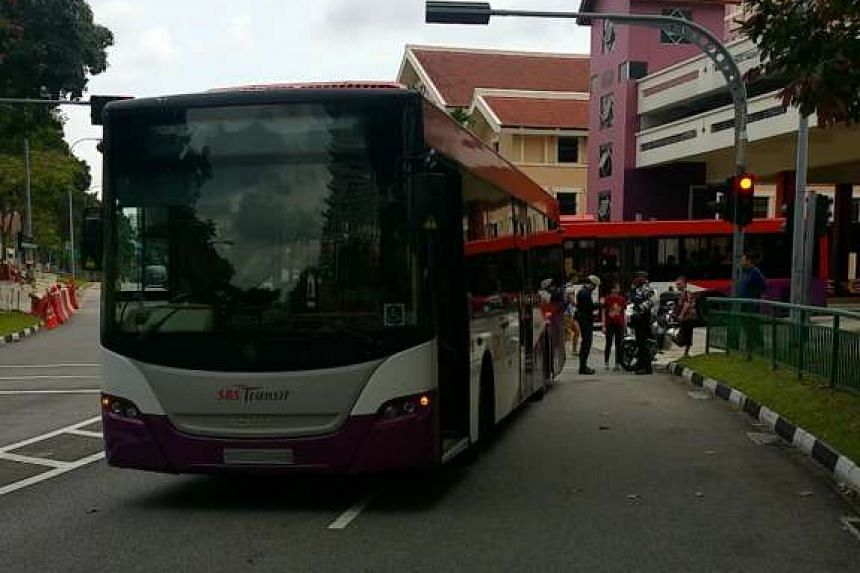 The SBS Transit bus was turning out of Bishan Interchange onto Bishan Street 13 when the accident occurred.
