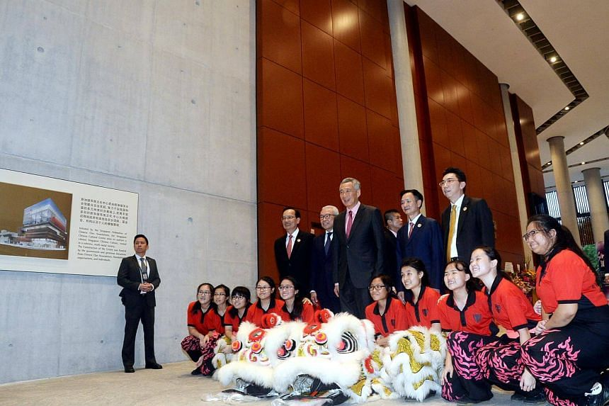 PM Lee Hsien Loong at the official opening of Singapore Chinese Cultural Centre, on May 19, 2017.