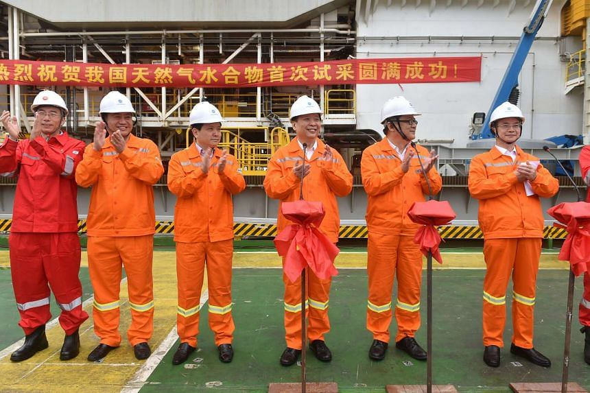 China has successfully extracted natural gases from the South China Sea Shenhu waters in a test operation of the ''Blue Whale One'' drilling platform.