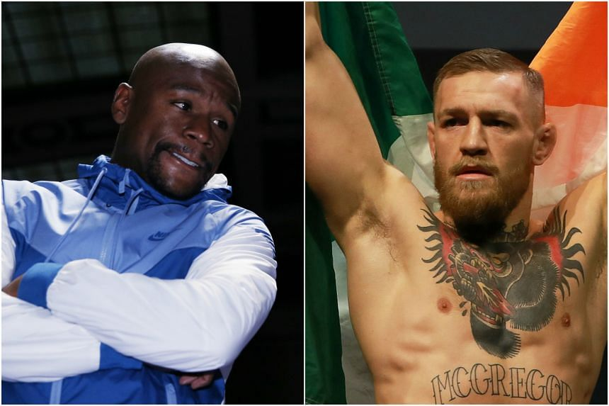 Floyd Mayweather (left) and Conor McGregor.