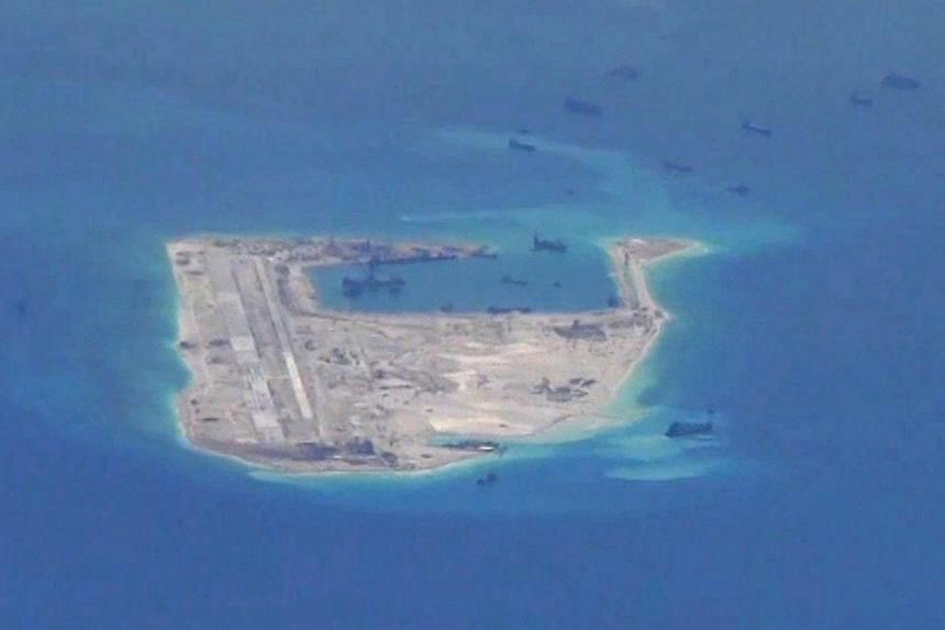 The disputed Spratly Islands in the South China Sea on May 21, 2015.