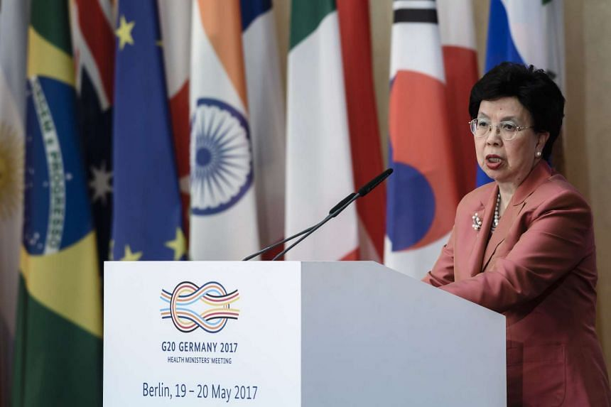 The General Director of the World Health Organization (WHO), Margaret Chan, speaks during the G20 Health Minister's Meeting in Berlin, Germany, on May 19, 2017.