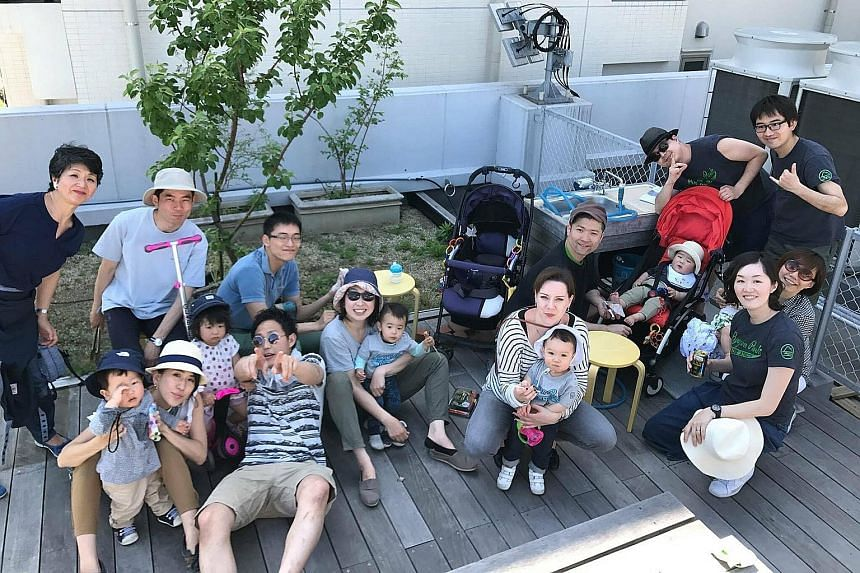 Ryozan Park has had 24 residents couple up and marry since it opened nearly five years ago. The families keep in contact by having regular outings together. Global Agents has concept apartments such as a bicycle-themed one (top). According to its spo