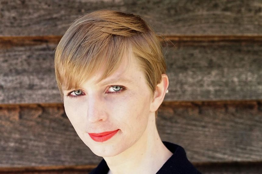 Transgender former soldier Chelsea Manning one day after being released from a top-security US military prison.