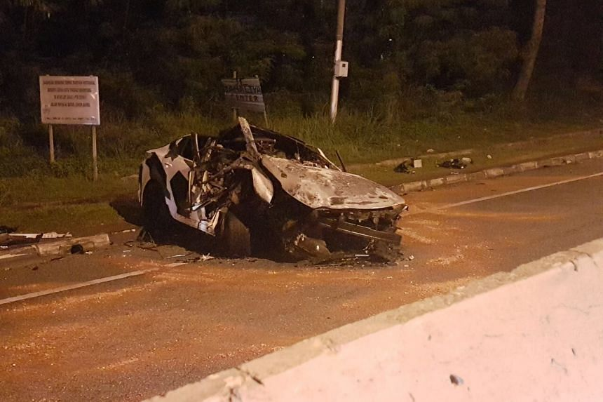 A fatal accident in Johor Baru right after the Malaysian customs on Saturday, May 20 2017.