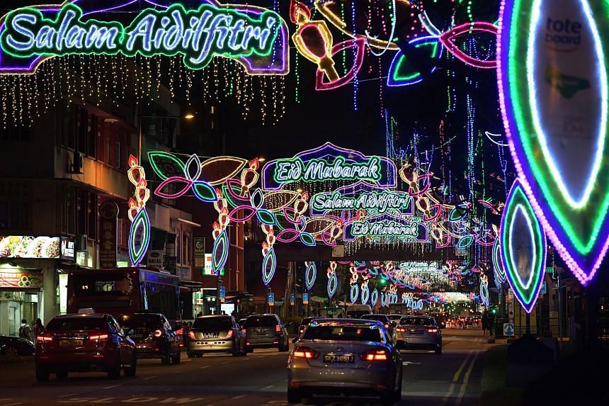 The light-up this year runs till July 7, with the streets lit up at 7pm every day. Highlights include a kampung house perched above the road, flanked by giant leaves designed to look like the traditional Malay songket brocade.