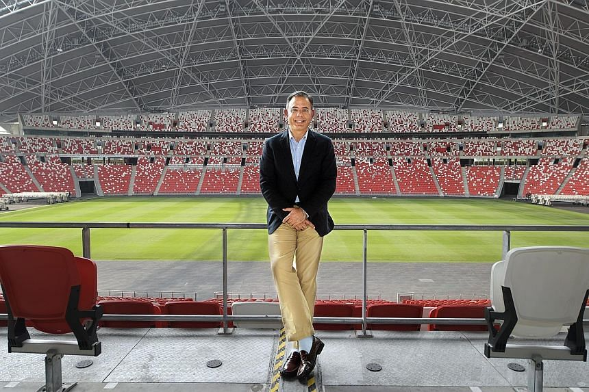Singapore Sports Hub chief executive Manu Sawhney was appointed in October 2015. He was previously managing director of ESPN Star Sports.