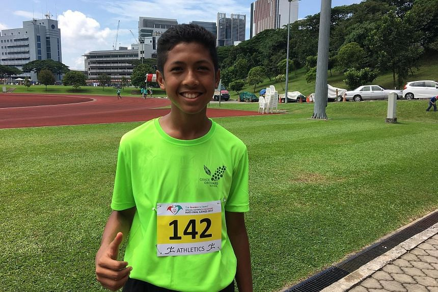 Long jumper Haikal Mazlan hopes to compete in Singapore's colours in the future.