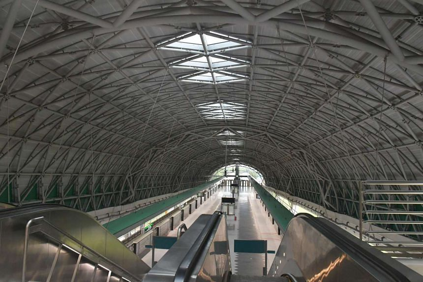 Tuas Link Station, part of the Tuas West Extension.