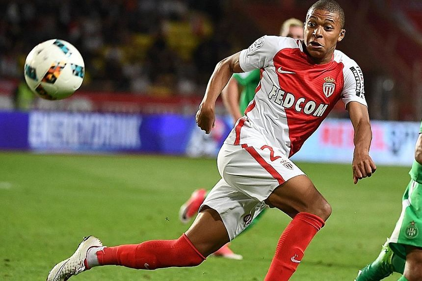 Monaco's French forward Kylian Mbappe's value has soared to an estimated £112 million (S$202 million), with Manchester City and Real Madrid leading the race to sign the 18-year-old.