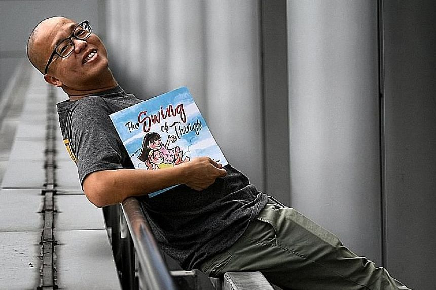 DJ Shan Wee wrote 99 Rules For New Dads, while Straits Times Life entertainment editor Andy Chen (above) penned The Swing Of Things.
