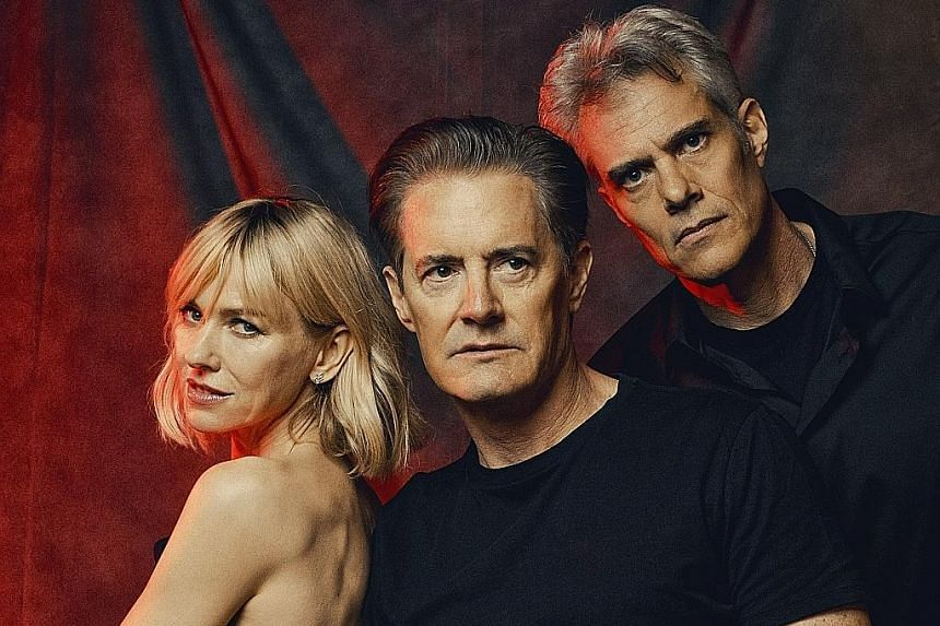 The cast of Twin Peaks, directed by David Lynch, includes (above from left) Naomi Watts, Kyle MacLachlan and Dana Ashbrook.