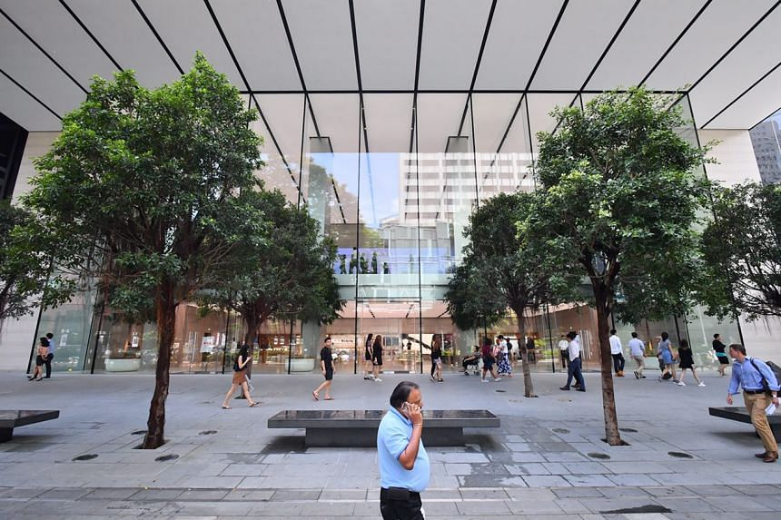 The Apple Store at Orchard Road unveiled its new space on Monday (May 22).
