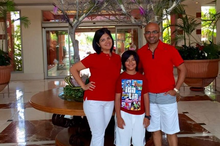 The author Harshika Daryanani, an Indian from Singapore living in Dubai, with her family.