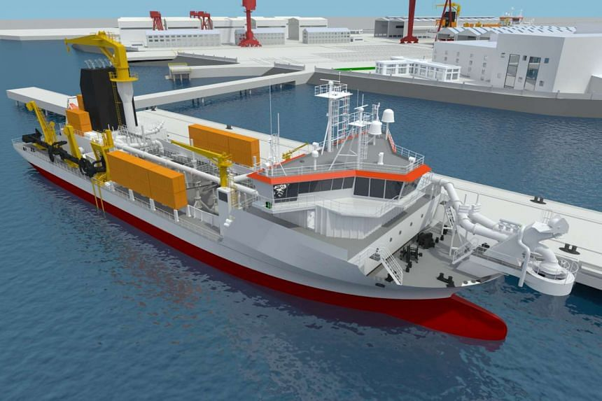 An artist's impression of a dredger. Keppel Offshore & Marine's wholly-owned subsidiary Keppel Singmarine has secured contracts from Codralux S.A., a wholly-owned subsidiary of Jan De Nul Group, to build two Trailing Suction Hopper Dredgers. The dr