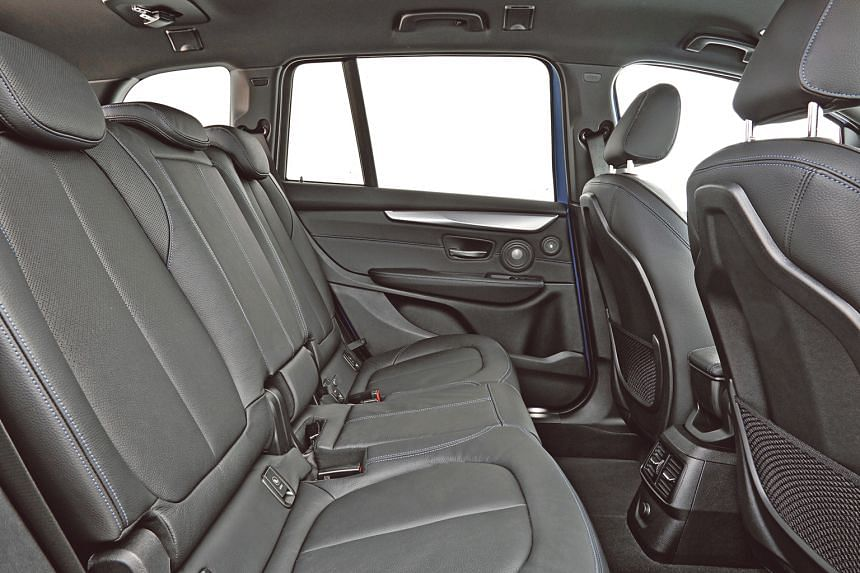 The comfy leather seats can be adjusted electronically, so you don't need to press or pull levers to move to your desired position.