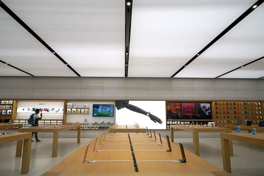 The interior of the Apple Orchard Road store was unveiled to the media on Thursday (May 25).