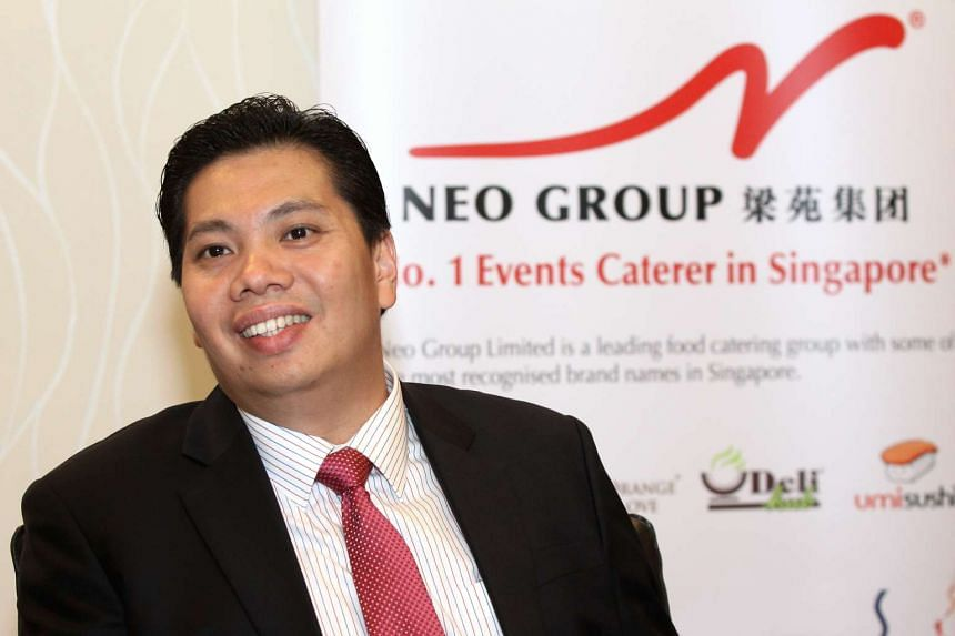 Mr Neo Kah Kiat is the chairman and chief executive for food caterer Neo Group.