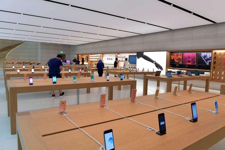 A preview of Singapore's first Apple store along Orchard Road on May 25, 2017.