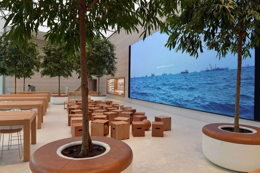 A preview of Singapore's first Apple store along Orchard Road.