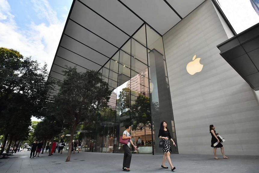 The exterior of the Apple Orchard Road store.