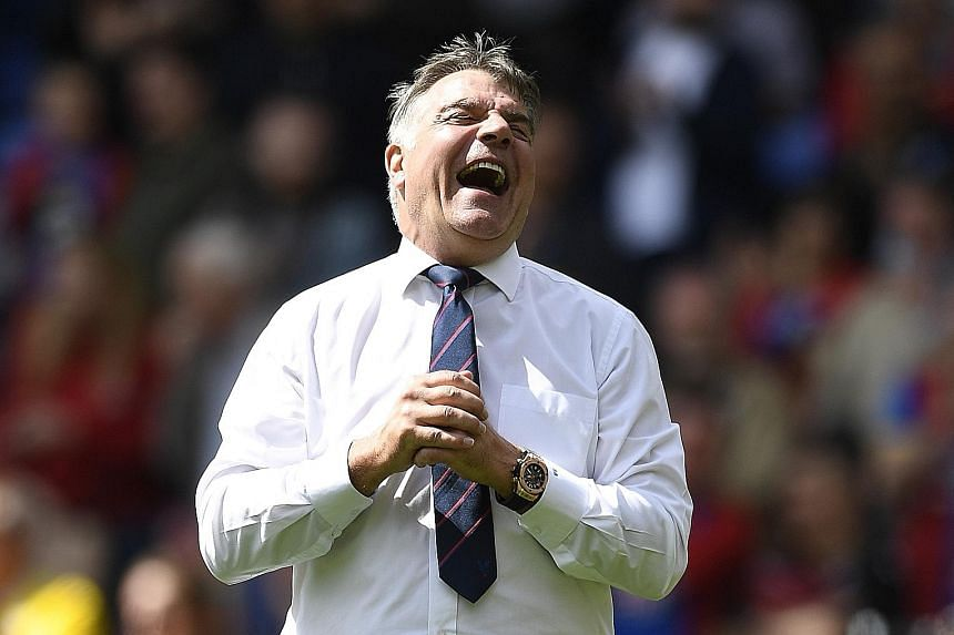 An elated Sam Allardyce after Palace's 4-0 thrashing of Hull on May 14, which ensured their Premier League survival and demoted their opponents. The club will now have to look for their eighth manager in seven seasons.