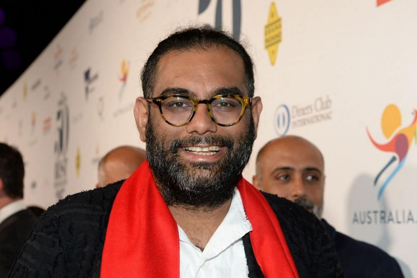 Gaggan Anand poses on the red carpet during the World's 50 Best Restaurants awards in Melbourne on April 5, 2017.