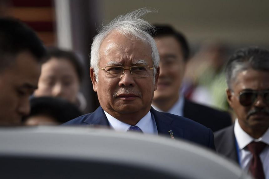 Malaysian Prime Minister Najib Razak arrives at Beijing Capital International Airport on May 12, 2017.
