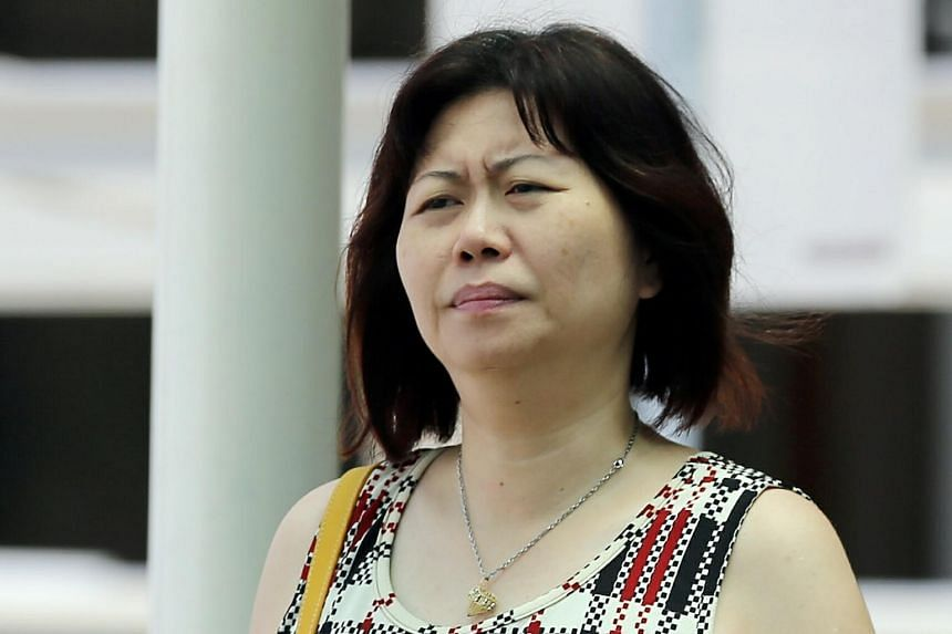 Chua Siew Peng, 45, at the State Courts on April 20, 2015.