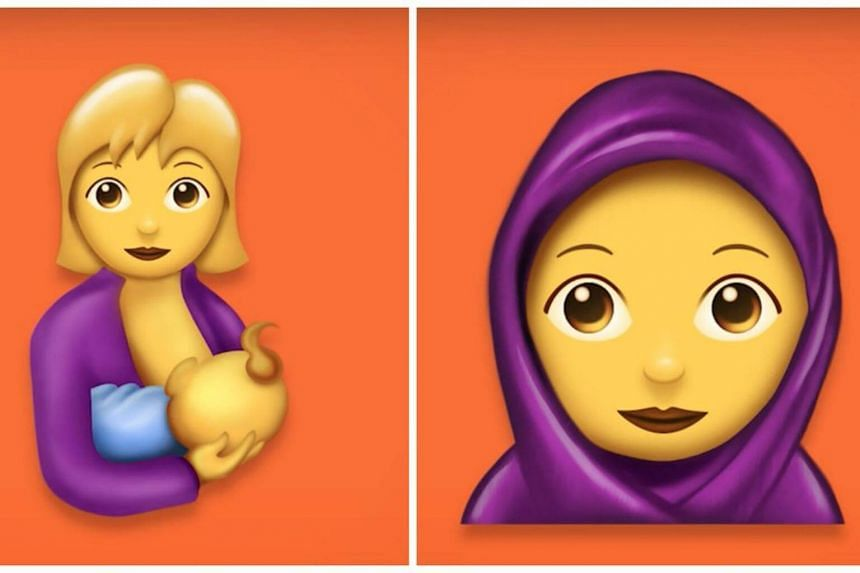 The new Twitter emoji includes a breastfeeding mother and a woman donning a hijab.
